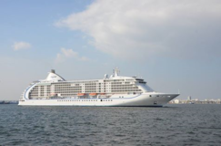 Photo: The photo of the Seven Seas Voyager and Nautica taken from a distance