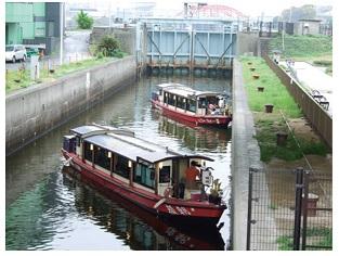 中川通船門の写真